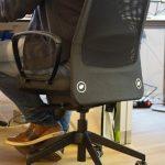 Stühle mit LimeSoda Aufkleber