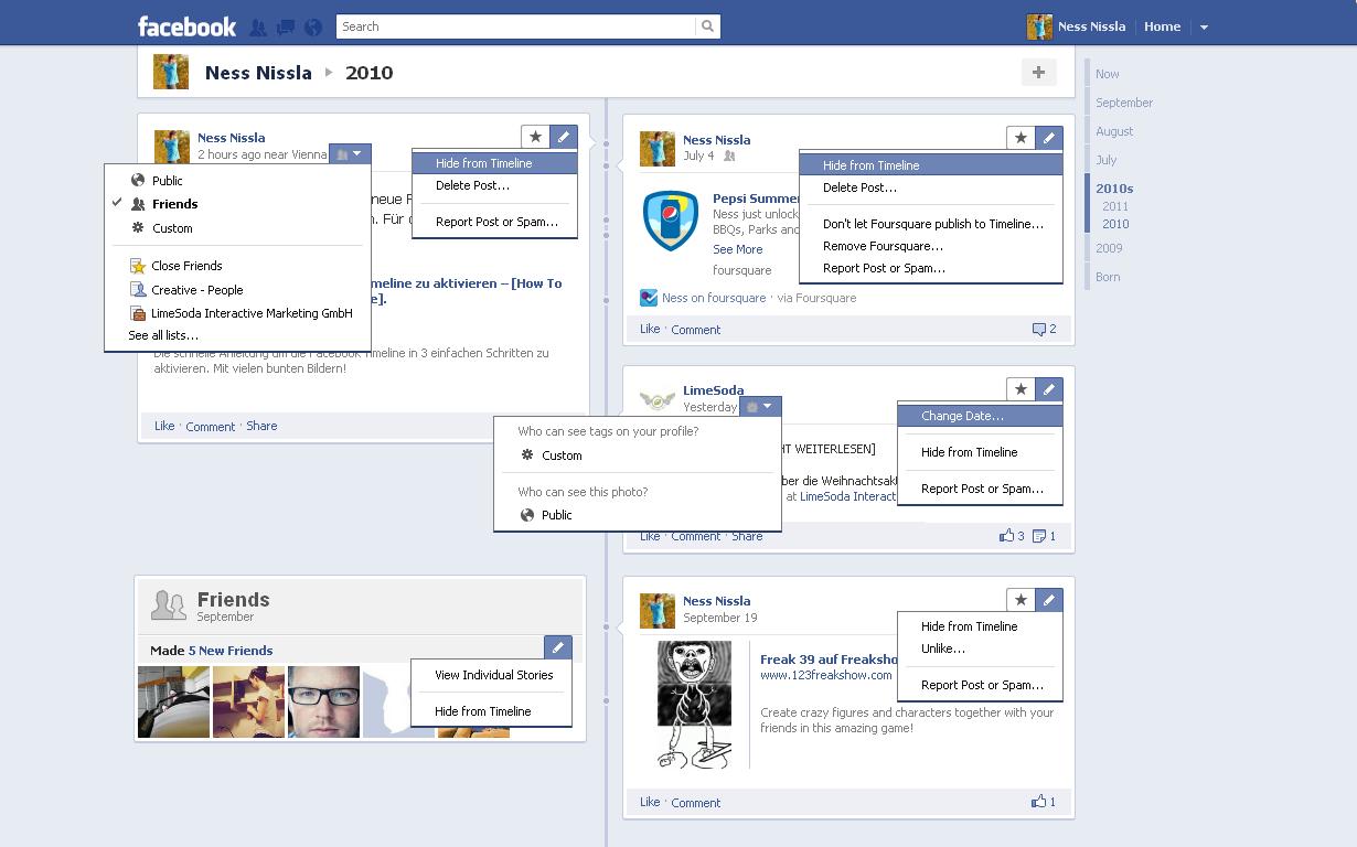 Facebook Timeline - Die komplette Anleitung in Bildern | LimeSoda Blog