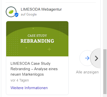 Google Posts Beitrag LIMESODA