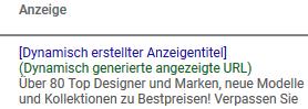 Beispiel Dynamic Search Ads