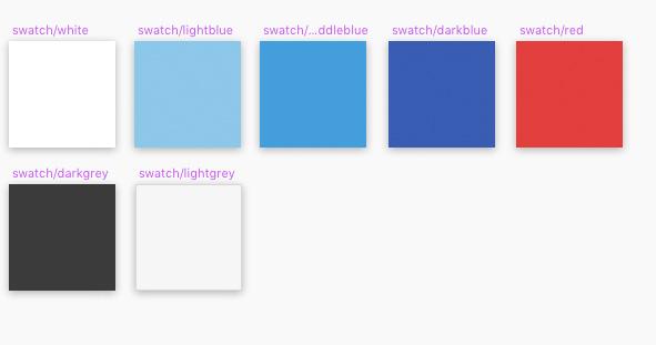 Designsystemkomponenten Farben
