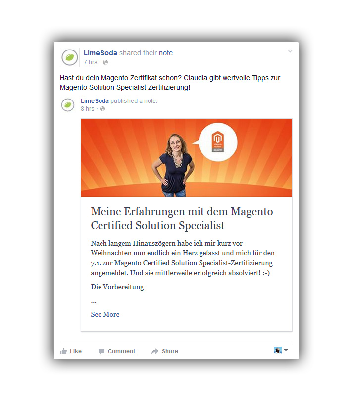 Facebook-Notizen-Ad