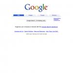 Screenshot von Google im Jahr 2002