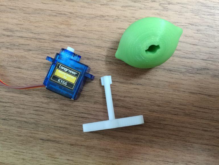 3D Druck der Limette mit Verbindungs Aufsatz und dem Servomotor