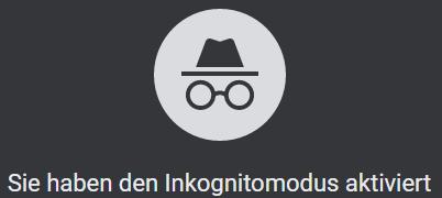 Inkognito-Modus