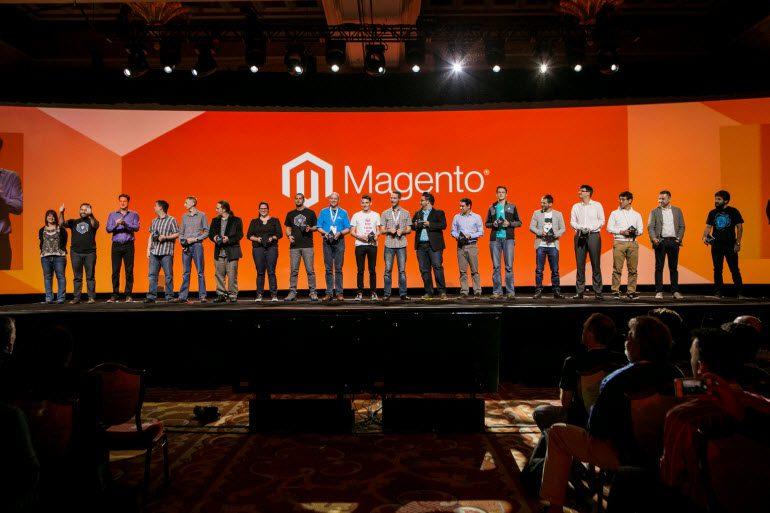 Die Magento Masters auf der Bühne des Events Magento Imagine 2016