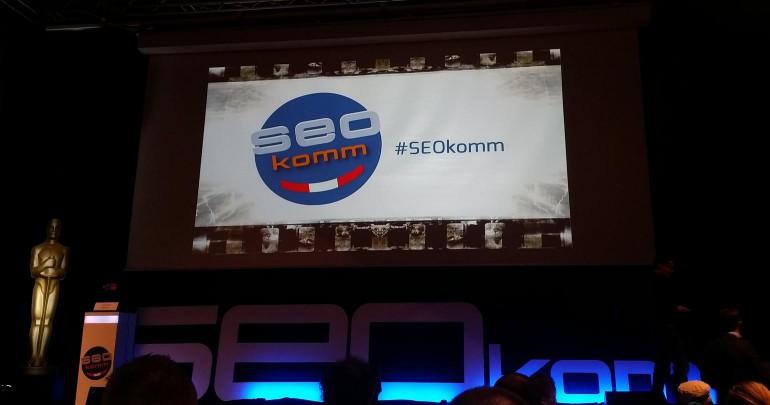 Foto von der Hauptbühne der SEOkomm