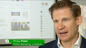 Screenshot: Philipp Pfaller im heute konkret Interview zum Thema Datenhandel im Internet