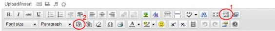 Wordpress TinyMCE toolbar