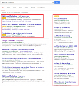Screenshot Google-Suchergebnisseite