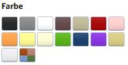 Farben: Anzeige von Farbkästchen