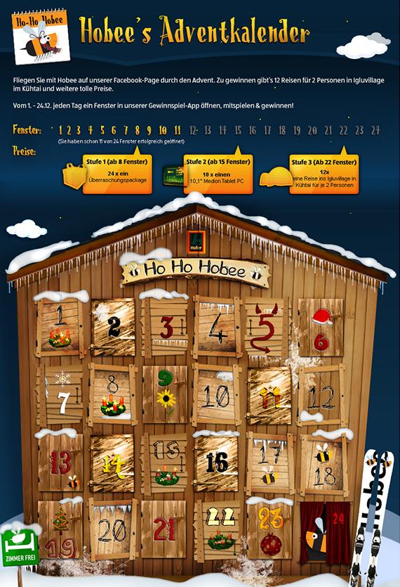 Hofer Österreich Adventkalender, Winter 2013