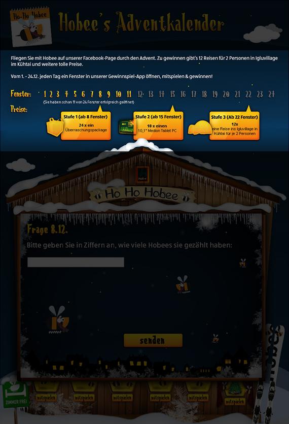 Gewinnstufen des Hofer Österreich Adventkalenders, Winter 2013