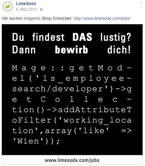 Job Ads für eCommerce Entwickler