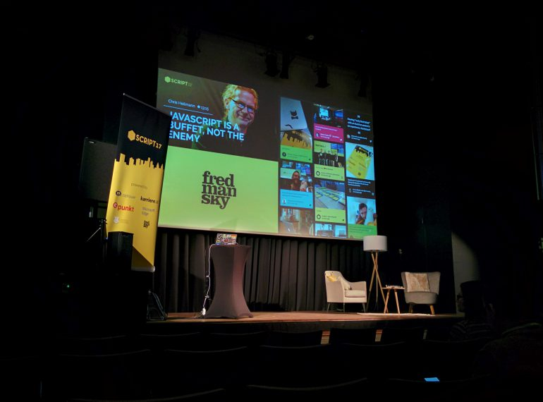 Die Bühne des Events Script' 17 in Linz