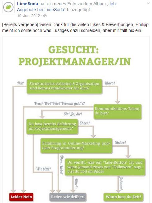 Stelleninserat Projektmanager