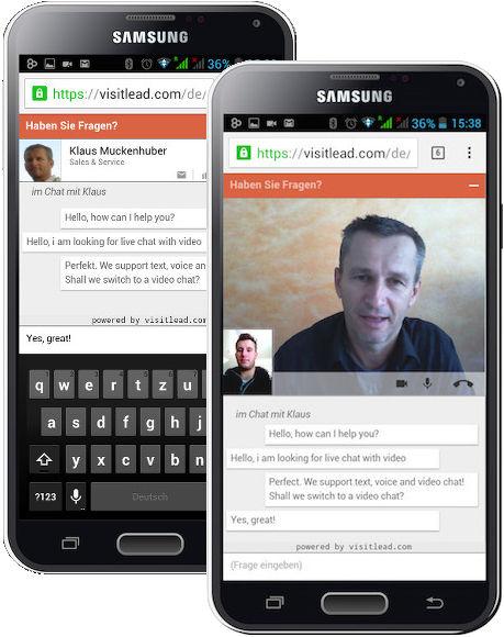 Live Chat für Mobilgeräte (c) VisitLead.com