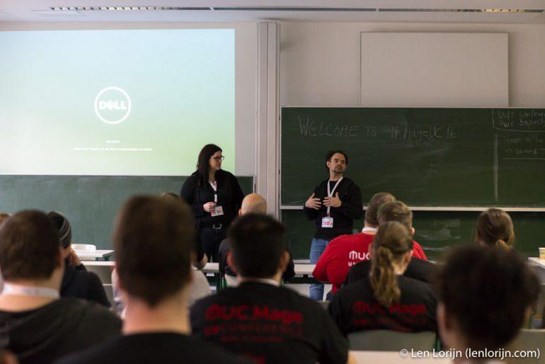 Anna und Matthias halten eine Session bei der Magento Unconference 2016 in Berlin
