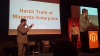 """Tims Vortrag """"Harh Truth of Magento Enterprise"""" als Aufreger der Show"""