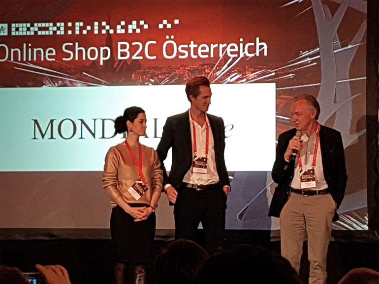Anton Award für LimeSoda Kunde MONDIALmode in der Kategorie Bester B2C Shop 2017