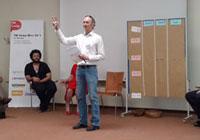 "Michael Laussegger beim ""Session Marktplatz"""