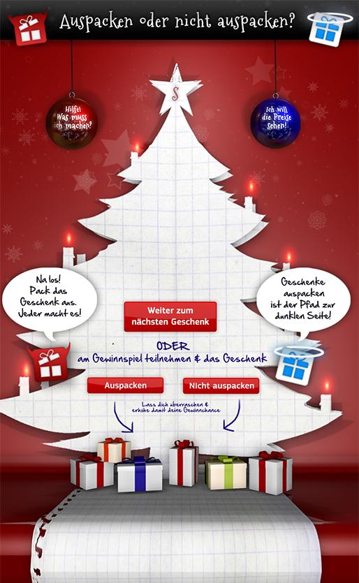 Adventkalender Samsung Österreich, Winter 2012